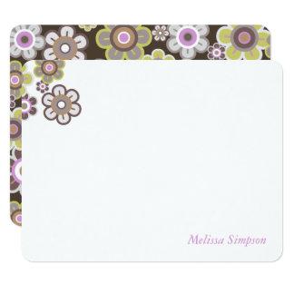 Purple Daisies Flowers Blooms Baby Shower Thank Yo Card