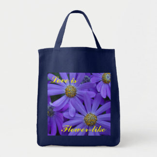 Purple Daisies - Grocery Tote