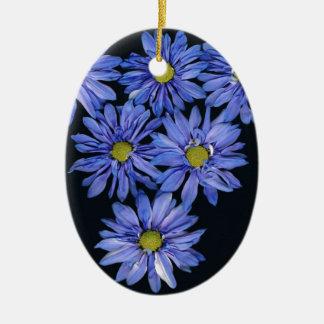 Purple Daisies Ornaments