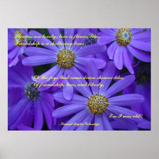 Purple Daisies - Poster #2