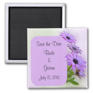Purple Daisies Save the Date Magnet