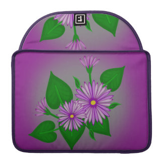 Purple Daisies Sleeve For MacBooks