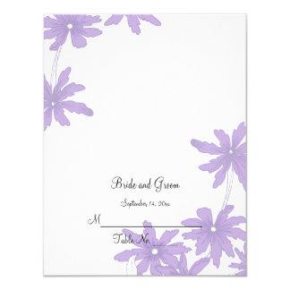 Purple Daisies Wedding Reception Place Card