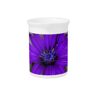 Purple Daisy and its meaning Beverage Pitchers