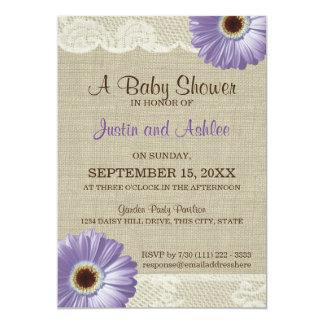 Purple Daisy Baby Shower Card