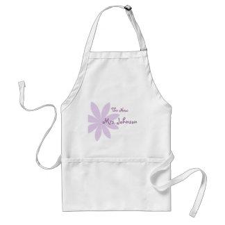 Purple Daisy Bridal Adult Apron