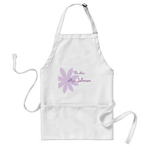 Purple Daisy Bridal Aprons