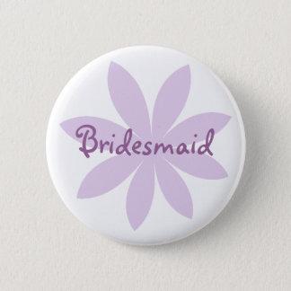 Purple Daisy Bridesmaid Pinback Button