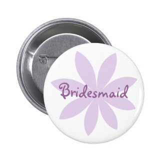 Purple Daisy Bridesmaid Pinback Button