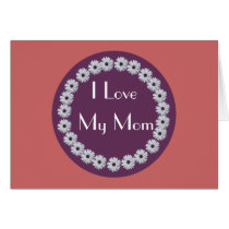 Purple Daisy Circle Card
