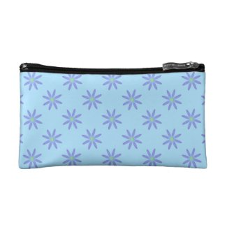 Purple Daisy Cosmetic Bag