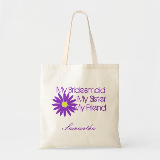 Purple Daisy/ Customizable Tote Bag
