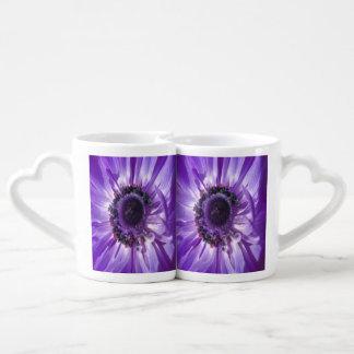 Purple Daisy Duo Coffee Mug Set