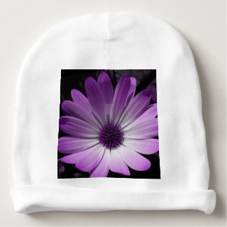 Purple Daisy Flower Baby Beanie Hat