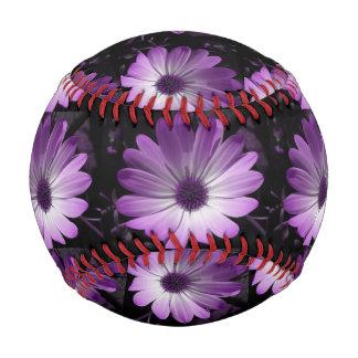 Purple Daisy Flower Baseball
