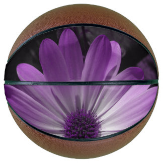 Purple Daisy Flower Basketballs Basketball