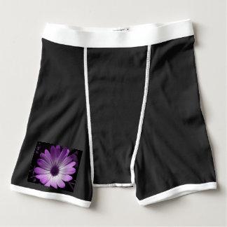 Purple Daisy Flower Boxer Briefs