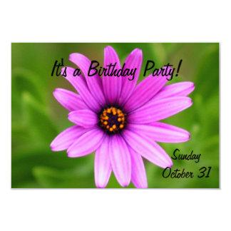 Purple Daisy flower Card