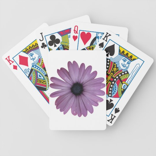 Purple Daisy Flower Custom Deck of Playing Cards