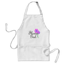 Purple Daisy Flower Girl Adult Apron