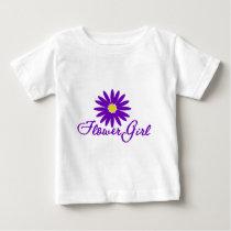 Purple Daisy Flower Girl Baby T-Shirt