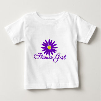 Purple Daisy Flower Girl Baby T-Shirt