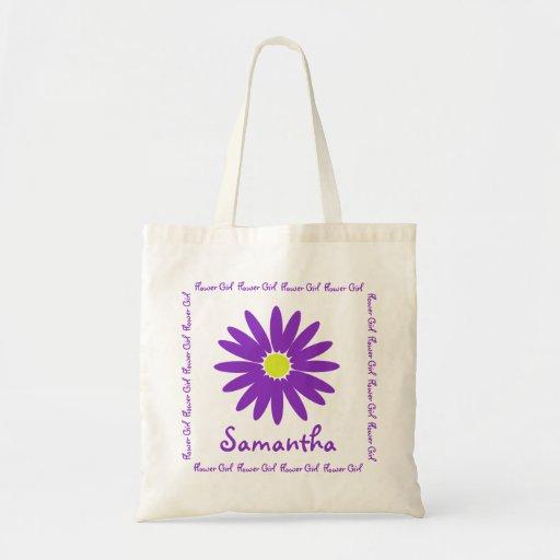 Purple Daisy Flower Girl Bag
