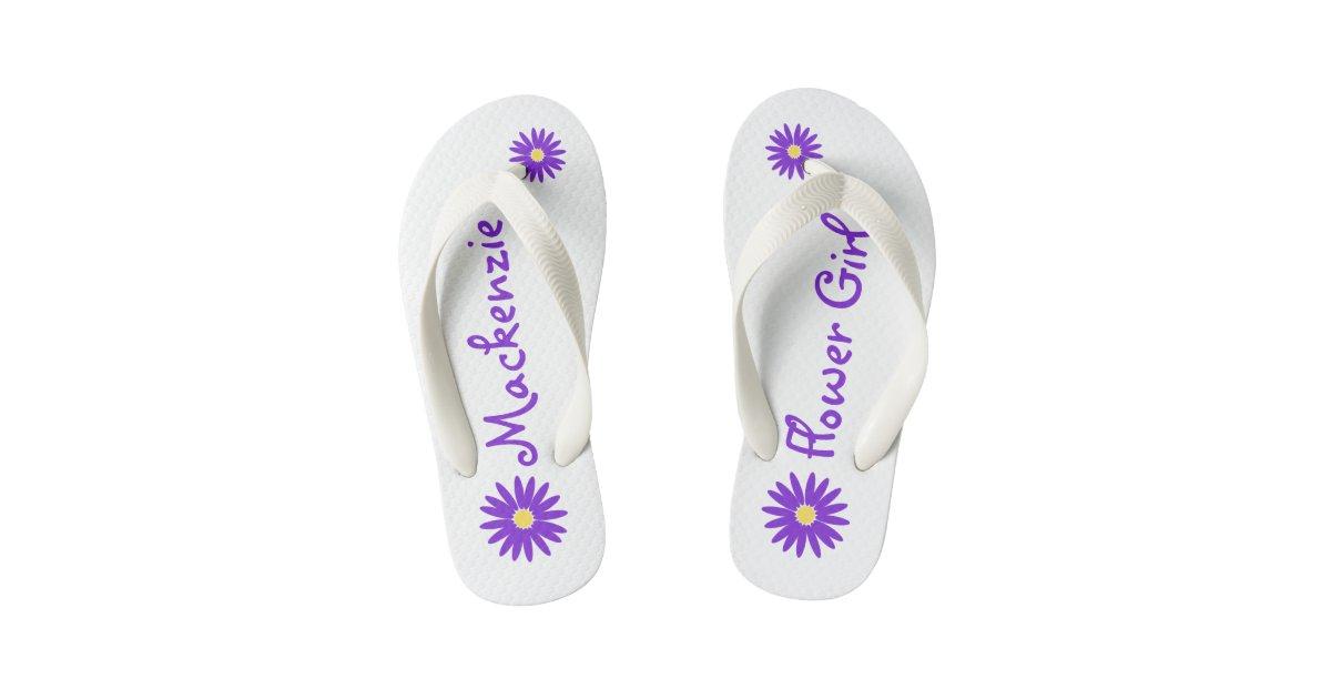 a3557dd1c Purple Daisy Flower Girl Kid s Flip Flops