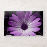 """Purple Daisy Flower HP Laptop Skin<br><div class=""""desc"""">This awesome laptop skin features a beautifully detailed photograph of an African daisy flower. The photo has been digitally altered,  resulting in a pretty purple coloured flower with different shades of purple on the petals and a dark purple centre.</div>"""
