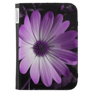 Purple Daisy Flower Kindle Case