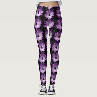 Purple Daisy Flower Leggings