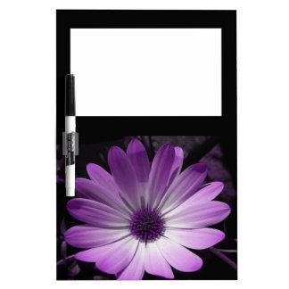 Purple Daisy Flower Memo Board