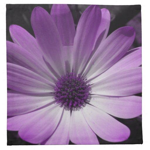 Purple Daisy Flower Napkin