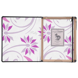 Purple daisy flower pattern iPad folio case