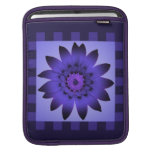 Purple Daisy Flower, Pattern Stripes Sleeve iPad Sleeves