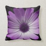 Purple Daisy Flower Pillow