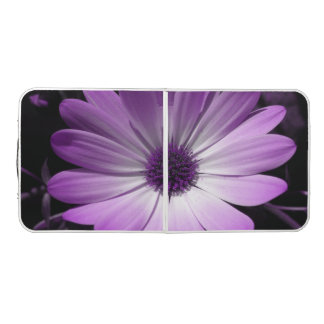 Purple Daisy Flower Pong Table
