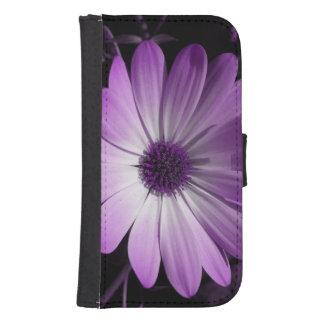 Purple Daisy Flower Samsung Wallet Case Phone Wallet Case
