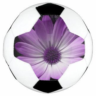 Purple Daisy Flower Soccer Ball