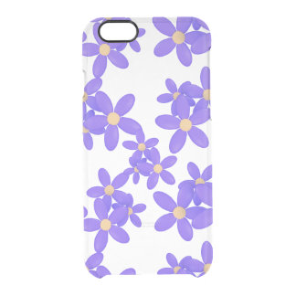Purple Daisy Flowers Clear Clear iPhone 6/6S Case