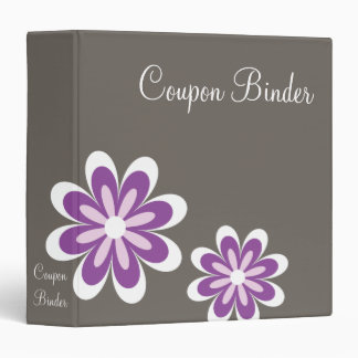 Purple Daisy Flowers Coupon Organizer Binder