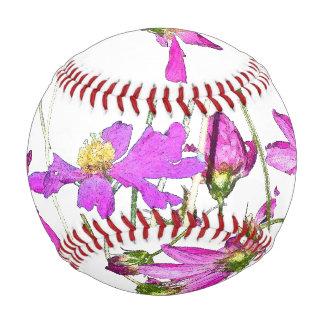 Purple Daisy Flowers Floral Wildflowers Baseball