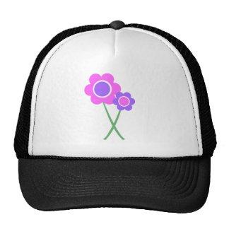 Purple Daisy Flowers Trucker Hat