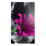 Purple Daisy in Glass Double-Sided Standard Business Cards (Pack Of 100)