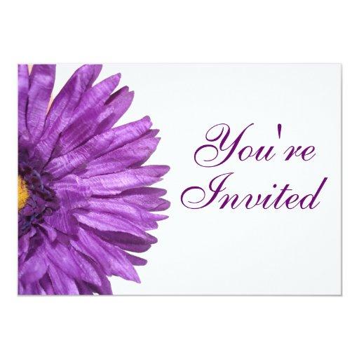 Purple Daisy Invitation