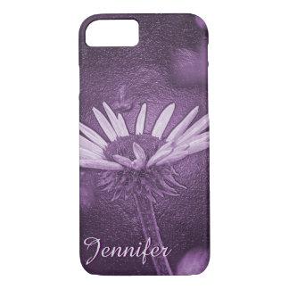 Purple Daisy (leather) iPhone 7 Case