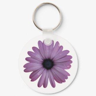 Purple Daisy Like Flower Osteospermum ecklonis keychain