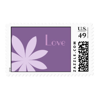 Purple Daisy Love Postage Stamps