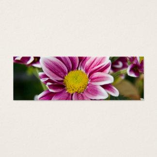 Purple daisy mini business card