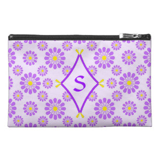 Purple Daisy Monogram Bag